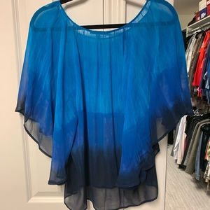 Great blue ombré blouse!